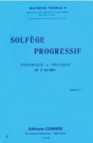 THOMAS R. SOLFEGE PROGRESSIF VOL 1