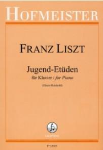 LISZT F. JUGEND-ETUDEN PIANO