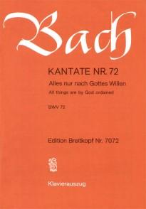 BACH J.S. CANTATE BWV 72 CHANT PIANO