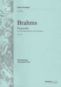 BRAHMS J. RHAPSODIE OP 53 CHANT PIANO