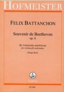 BATTANCHON F. SOUVENIR DE BEETHOVEN OP 8 VIOLONCELLE