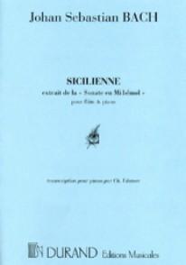 BACH J.S. SICILIENNE EN SOL MINEUR PIANO