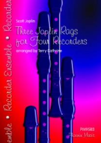 JOPLIN S. THREE JOPLIN RAGS FOR FOUR RECORDERS