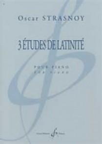 STRASNOY O. 3 ETUDES DE LATINITE PIANO