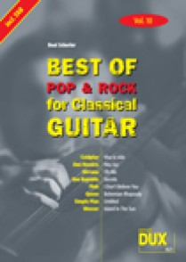 BEST OF POP & ROCK FOR CLASSICAL GUITAR VOL 10