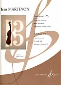 MARTINON J. SONATINE N°5 OP 32 N°1 ALTO SOLO