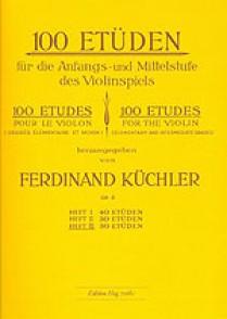 KUCHLER F. 100 ETUDES OPUS 6 VOL 3 VIOLON