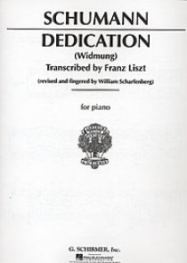 SCHUMANN R. DEDICATION PIANO