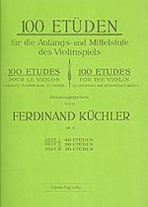 KUCHLER F. 100 ETUDES OPUS 6 VOL 1 VIOLON