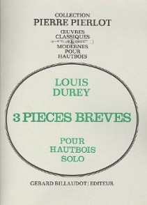 DUREY L. PIECES BREVES HAUTBOIS SOLO