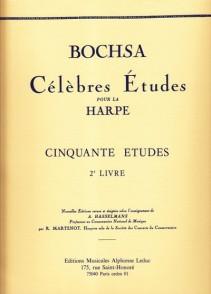 BOCHSA R.N. 50 ETUDES VOL 2 HARPE