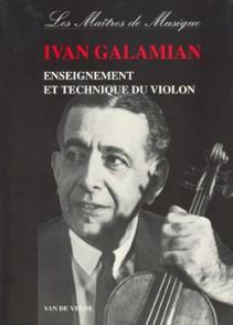 GALAMIAN I. ENSEIGNEMENT ET TECHNIQUE DU VIOLON