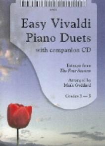 VIVALDI A. EASY PIANO DUETS PIANO 4 MAINS