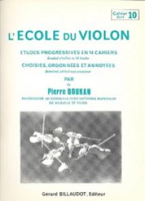 DOUKAN P. ECOLE DU VIOLON ETUDES PROGRESSIVES VOL 10