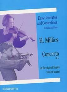 MILLIES H. CONCERTO RE MAJEUR VIOLON