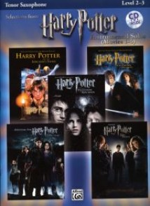 POTTER HARRY SELECTIONS INSTRUMENTAL SOLOS MOVIES 1-5 SAXOPHONE TENOR