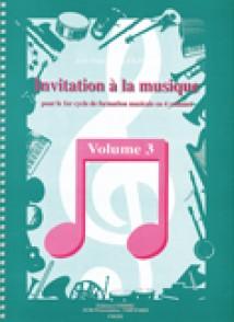 ALEXANDRE J.F. INVITATION A LA MUSIQUE VOL 3
