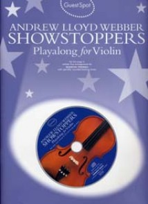 GUEST SPOT A.L.WEBBER SHOSTOPPERS PLAY-ALONG FOR VIOLIN