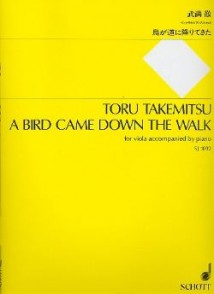TAKEMITSU T. A BIRD CAME DOWN THE WALK ALTO