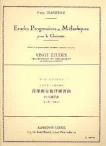 JEANJEAN P. ETUDES PROGRESSIVES ET MELODIQUES VOL 3 CLARINETTE