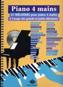 PIANO A 4 MAINS 33 MELODIES