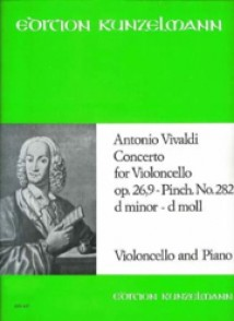 VIVALDI A. CONCERTO OP 26 N°9 VIOLONCELLE