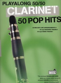 PLAYALONG 50/50 50 POP HITS CLARINET