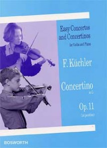 KUCHLER F. CONCERTINO SOL MAJEUR OP 11 VIOLON