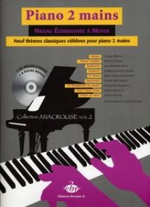 PIANO 2 MAINS 9 THEMES CLASSIQUES CELEBRES
