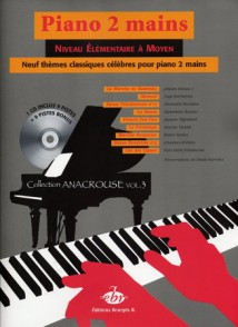 PIANO 2 MAINS 9 THEMES CELEBRES POUR PIANO