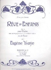 YSAYE E. REVES D'ENFANTS OP 14 VIOLON