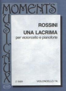 ROSSINI G. UNA LACRIMA VIOLONCELLE