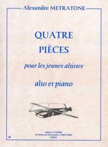 METRATONE A. PIECES POUR LES JEUNES ALTISTES ALTO