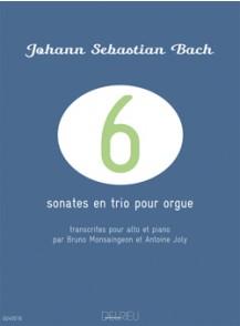 BACH J.S. SONATES EN TRIO POUR ORGUE ALTO