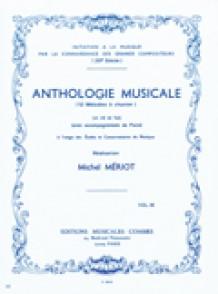 MERIOT M. ANTHOLOGIE MUSICALE A CHANTER VOL 3