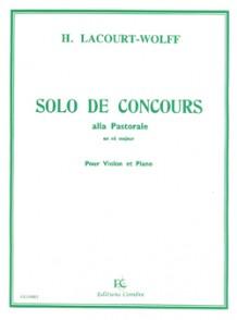 LACOURT-WOLF H. SOLO DE CONCOURS EN RE MAJEUR VIOLON