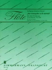 MOZART W.A. AER TRANQUILLO E DI SERENI KV 208 FLUTE