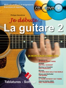 HEUVELINNE P. JE DEBUTE LA GUITARE 2 AVEC CD + DVD