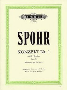 SPOHR L. CONCERTO N°1 OP 26 CLARINETTE PIANO