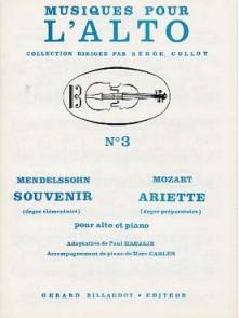 MENDELSSOHN F. SOUVENIR MOZART ARIETTE ALTO