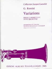 ROSSINI G. VARIATIONS CLARINETTE