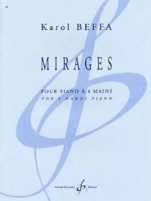 BEFFA K. MIRAGES PIANO 4 MAINS
