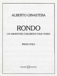 GINASTERA A. RONDO ON ARGENTINE CHILDREN'S FOLK TUNES PIANO