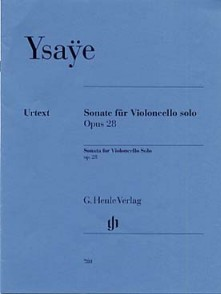 YSAYE E. SONATE OP 28 VIOLONCELLE SOLO