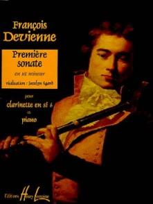 DEVIENNE F. PREMIERE SONATE CLARINETTE