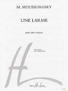 MOUSSORGSKY M. UNE LARME ALTO PIANO