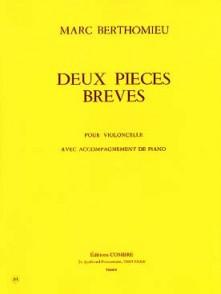 BERTHOMIEU M. 2 PIECES BREVES VIOLONCELLE PIANO