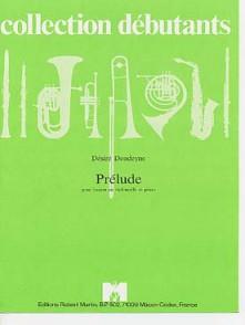 DONDEYNE D. PRELUDE BASSON OU VIOLONCELLE PIANO