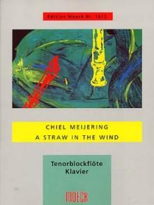 MEIJERING C. A STRAW IN THE WIND FLUTE A BEC TENOR
