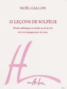 NOEL-GALLON 20 LECONS DE SOLFEGE